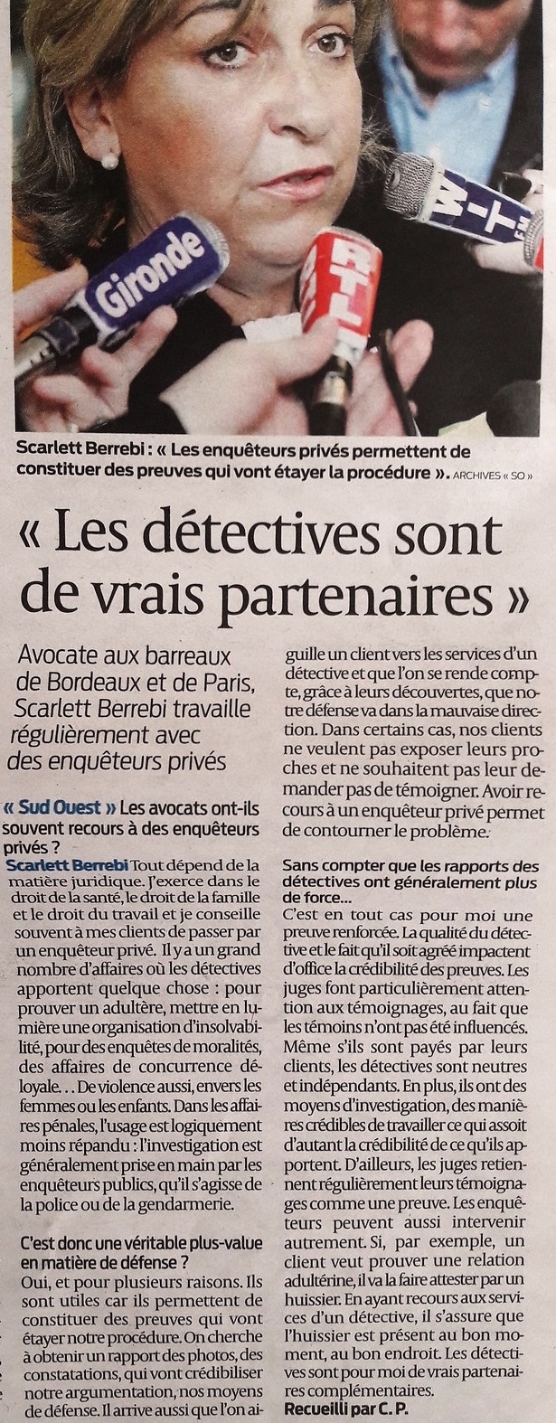 Article avocat sud ouest